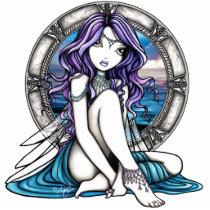 fairy, faery, fae, fairies, faerie, pixie, siren, nymph, art, gothic, goddess, water, fantasy, fine, myka, jelina, fine art, Photo Sculpture with custom graphic design