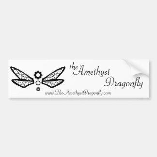 theAmethystDragonfly dragonfly logo bumper sticker