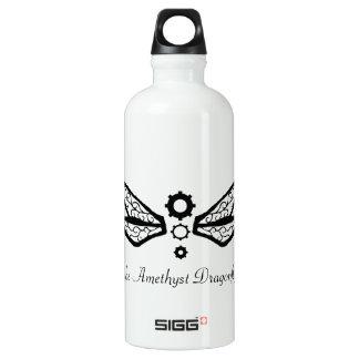theAmethystDragonfly logotipo de la libélula Botella De Agua