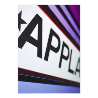 Theater Applause Sign Card