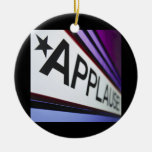 Theater Applause Sign Double-Sided Ceramic Round Christmas Ornament
