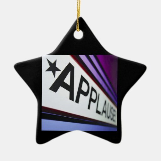 Theater Applause Sign Double-Sided Star Ceramic Christmas Ornament