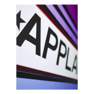 Theater Applause Sign Custom Announcement