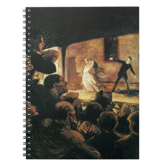 Theater by Honore Daumier Notebook