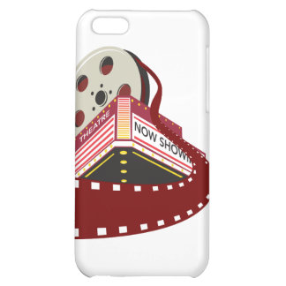 theater cinema building with film reel rolling out iPhone 5C covers