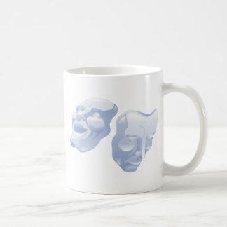 theater comedy and tragedy masks coffee mug