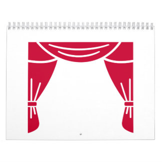Theater curtain calendar
