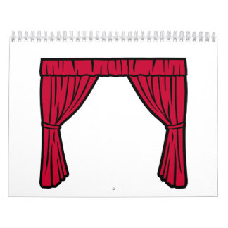 Theater curtain calendar