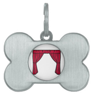 Theater curtain pet name tags