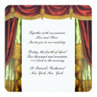 Theater Curtain Wedding Invitation