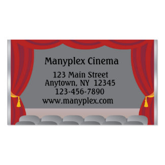 Theater Curtains, Stage Double-Sided Standard Business Cards (Pack Of 100)