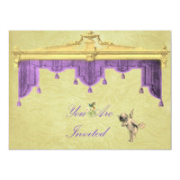 Theater Curtains Wedding Invite