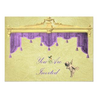 Theater Curtains Wedding Invite