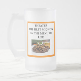 THEATER FROSTED GLASS BEER MUG