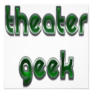 Theater Geek Green Art Photo