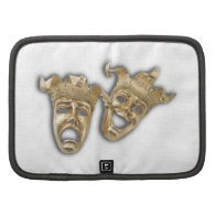 Theater Golden Comedy Tragedy Masks Folio Planners
