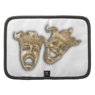 Theater Golden Comedy Tragedy Masks Planner