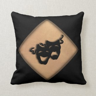 Theater Happy Sad Masks Throw Pillow