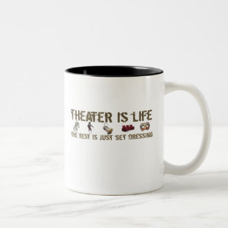 Theater Is Life Two-Tone Coffee Mug