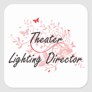 Theater Lighting Director Artistic Job Design with Square Sticker