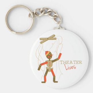 Theater Lives Basic Round Button Keychain