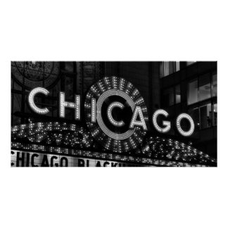 THEATER MARQUEE - CHICAGO POSTER