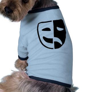 Theater mask dog tshirt