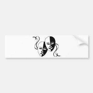 Theater Masks Bumper Sticker