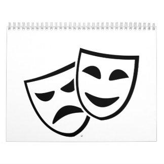 Theater masks calendar