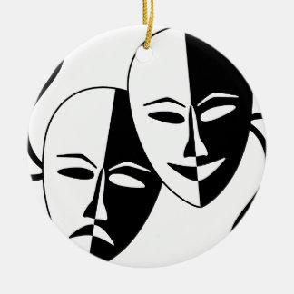 Theater Masks Ceramic Ornament