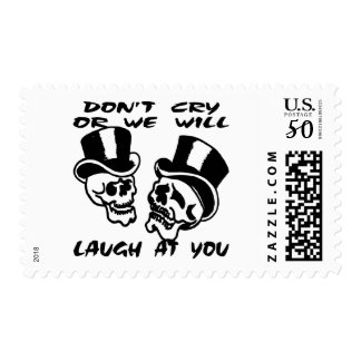 Theater Masks Don't Cry Or We Will Laugh At You Postage