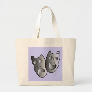 Theater masks large tote bag