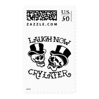 Theater Masks Laugh Now Cry Later Postage