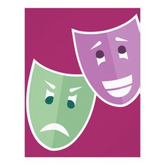 Theater masks letterhead