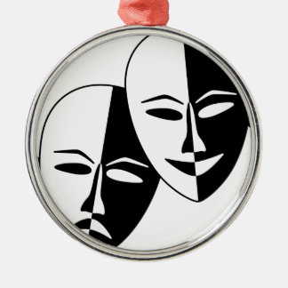 Theater Masks Metal Ornament