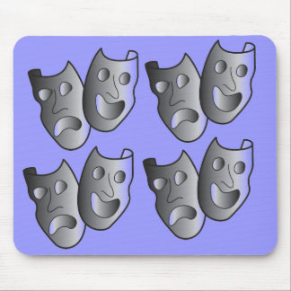 Theater masks mouse pad