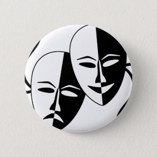 Theater Masks Pinback Button