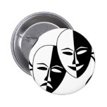 Theater Masks Pinback Buttons
