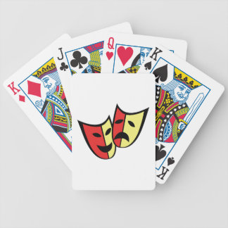 Theater Masks Bicycle Playing Cards