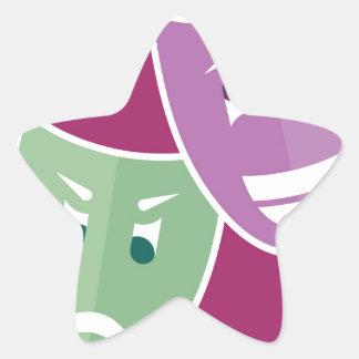 Theater masks star sticker