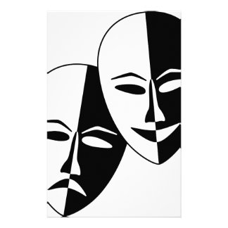 Theater Masks Stationery