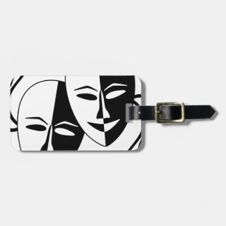 Theater Masks Tag For Luggage