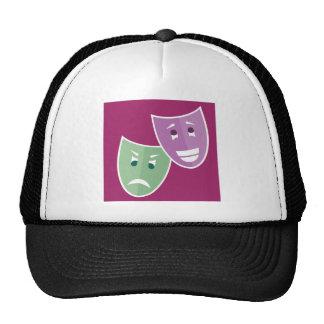 Theater masks trucker hat