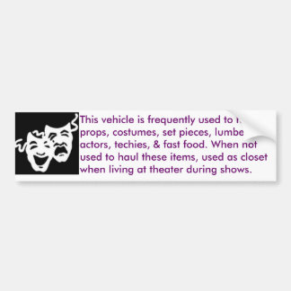 theater-mobile bumper sticker