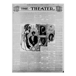 Theater News in D.C. 1905 newspaper poster