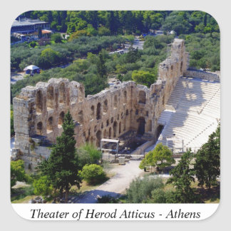 Theater of Herod Atticus - Athens Square Sticker