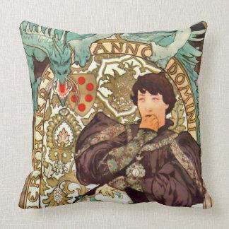 Theater Playbill 1896 Throw Pillow
