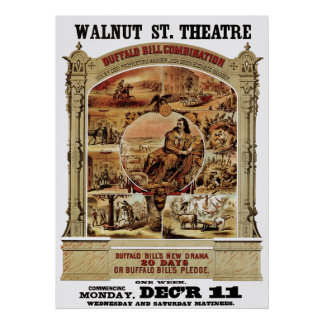THEATER POSTER of BUFFALO BILL SHOW 1882