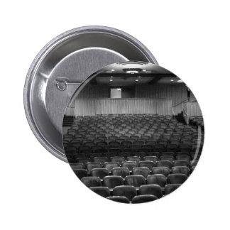 Theater Seating Black White Photo 2 Inch Round Button