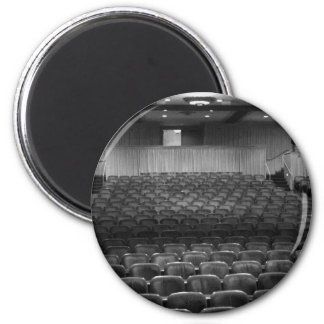 Theater Seating Black White Photo 2 Inch Round Magnet